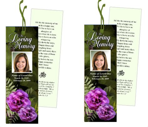 Funeral Bookmarks Template Free by Funeral Bookmark Template 22 Free Psd Ai Vector Eps