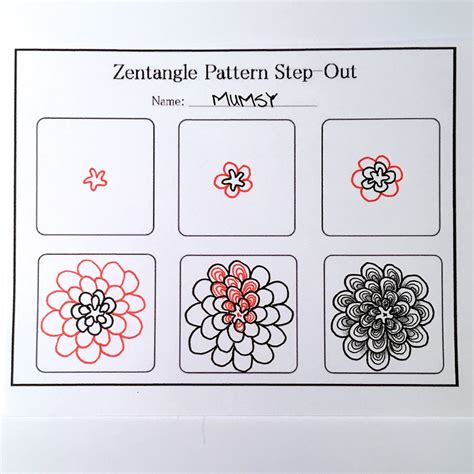 zentangle pattern step outs zentangle valentine s heart series designs 2016 always