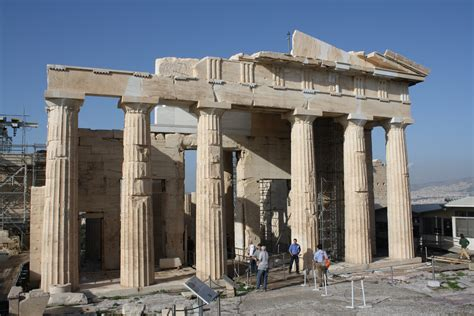 the propylaea the monumental gate to the acropolis of athens interior west view architect