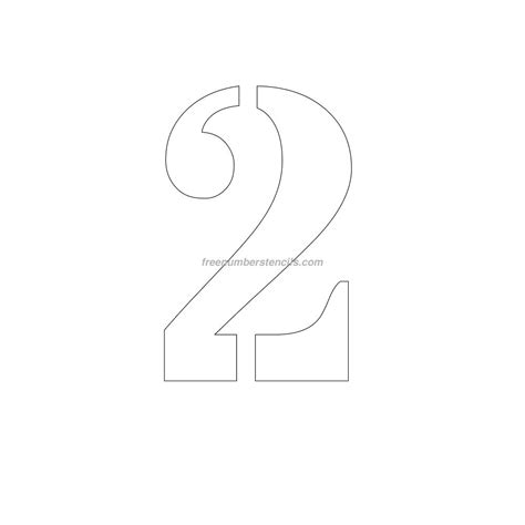 free printable number stencils for painting free printable number stencils for painting