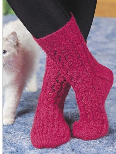 knitted socks pattern free free sock knitting patterns lace leaf socks