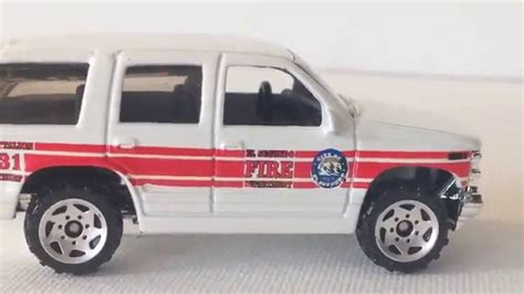 matchbox chevy suburban matchbox 97 chevrolet tahoe el segundo fire chief youtube