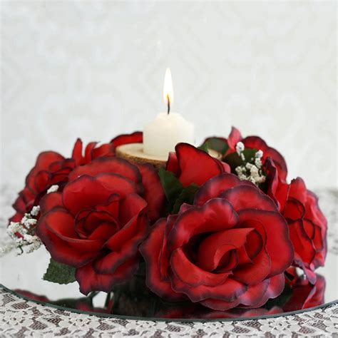 artificial centerpieces sale 24 artificial roses flowers candle rings centerpieces