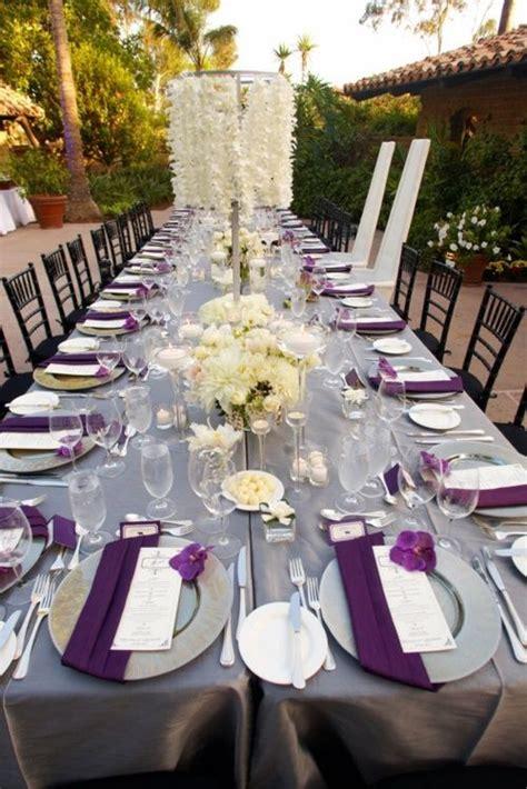 wedding decor purple and grey lavender wedding reception table decorations wedding