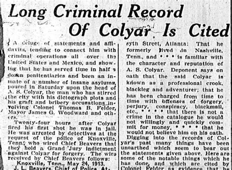 Atlanta Criminal Record Criminal Record Of Colyar Is Cited