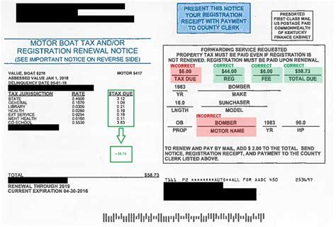 boat registration ky motor boat tax and registration renewal notice information
