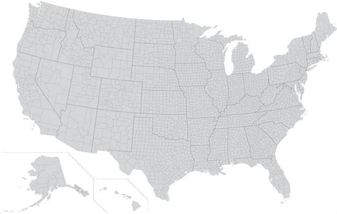 us map eps usa states and counties vector map