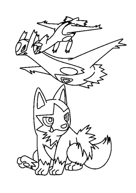 pokemon coloring pages meowth coloriage pok 233 mon latios latias et medhy 232 na