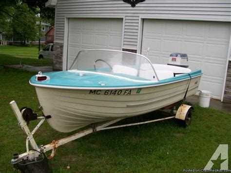 classic runabout boat for sale 13ft 1960 s mfg classic runabout boat w trailer life on