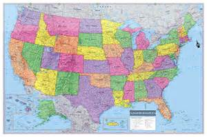 2016 usa united states wall map poster 36 quot x24 quot multi color