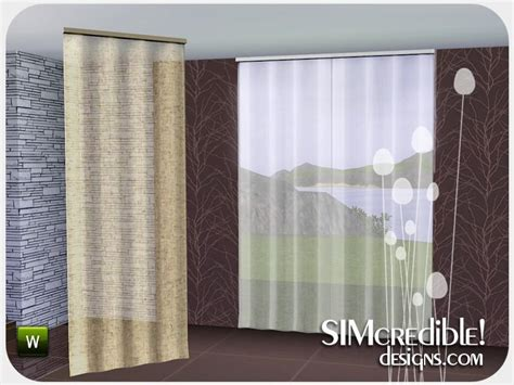 sims 3 curtains simcredible s effetto curtain