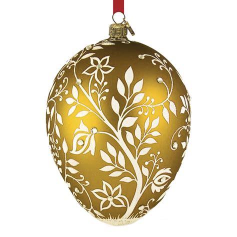 amber mistetoe egg reed and barton blown glass christmas