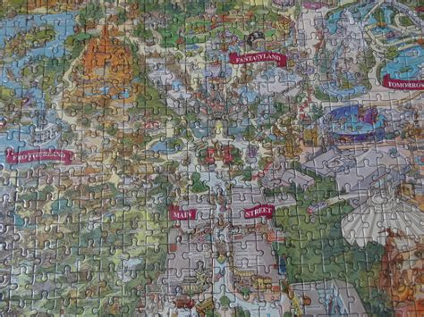disneyland decorative border puzzle map fav five mike s favorite disneyland souvenirs inside