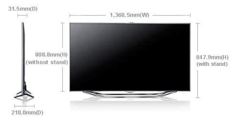 Tv Led Lg Berbagai Ukuran samsung ua60es8000 60 quot multi system 3d led smart tv 110 220 240 volts pal ntsc