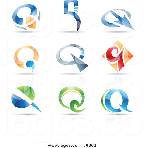free logo word design royalty free clip art vector logos of colorful letter q