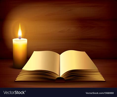 book images candle book background royalty free vector image