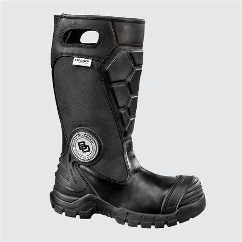 black leather fighting boots