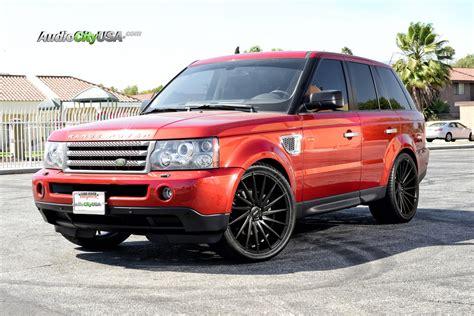burgundy range rover black rims range rover hse sport 22 quot varro vd 15 matte black wheels