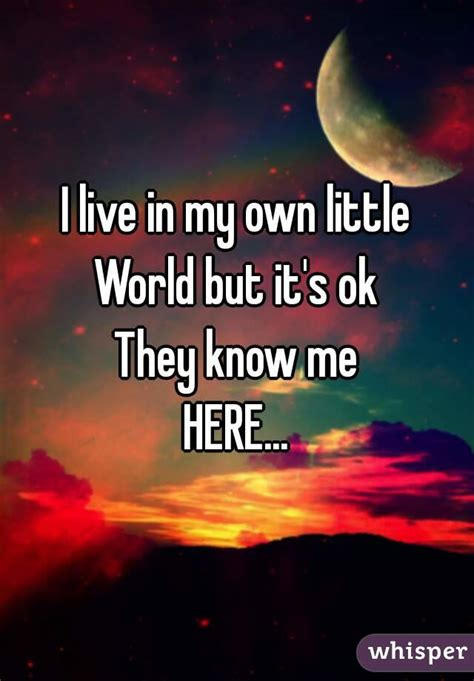My Own World 3 i live in my own world but it s ok they me here