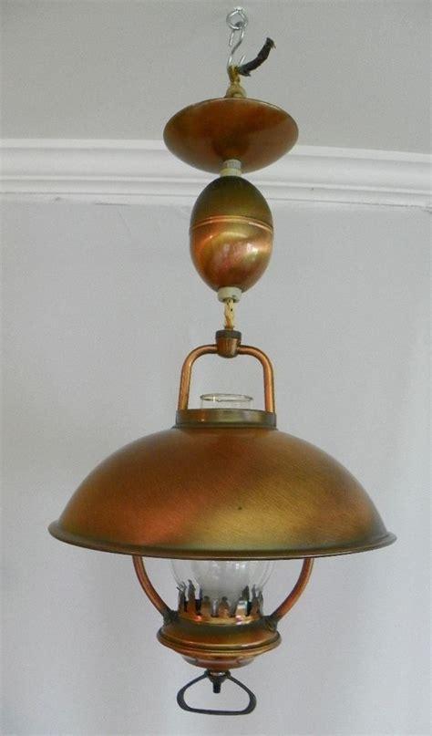 copper ceiling light fixtures vintage 1960 s hanging ceiling light pull