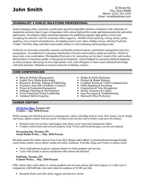 public relations resume examples resume samples