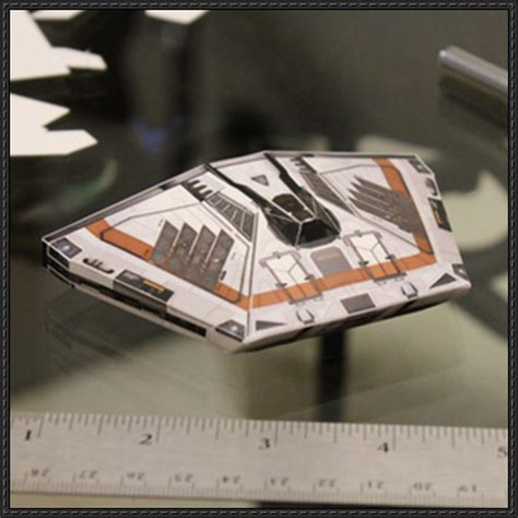 Spaceship Papercraft - elite dangerous simple sidewinder mk i spaceship free