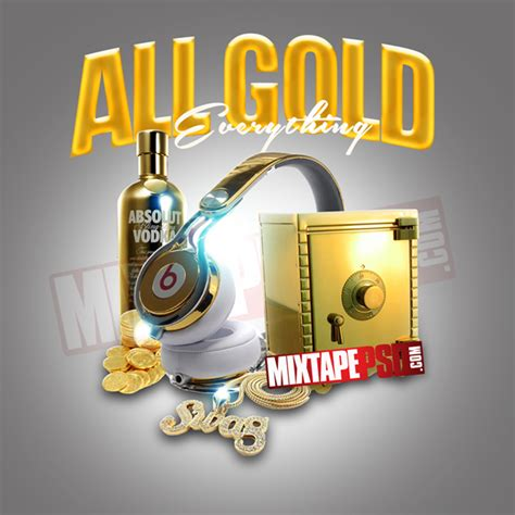 mixtape design templates mixtape template all gold everything mixtapepsd