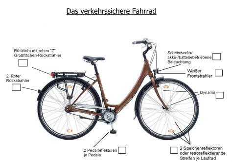 Beschriftung Verkehrssicheres Fahrrad by Licht Kontrollieren Lassen Auch Beim Fahrrad