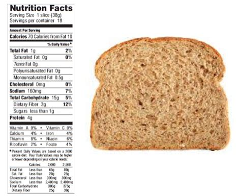 whole grains nutritional value whole wheat bread nutrition facts 2 slices