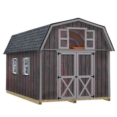 barns woodville  ft   ft wood storage shed kit