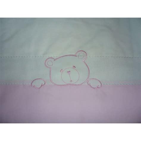 lenzuolino culla set lenzuolino culla con orsetto rosa