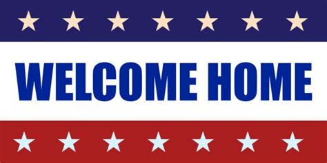 welcome home banner clipart