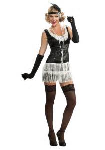 white dress halloween costume black and white sequin flapper costume