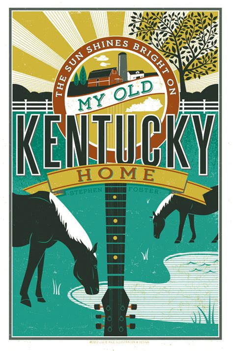 my kentucky home poster