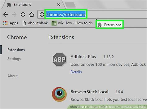 chrome extension settings how to change google chrome extensions settings 5 steps