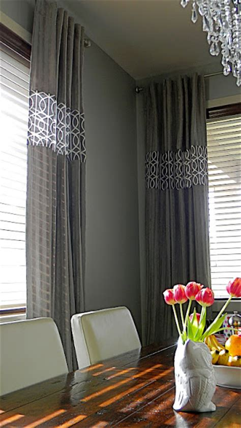 ways to drape curtains creative ways to extend the length of your curtain panels