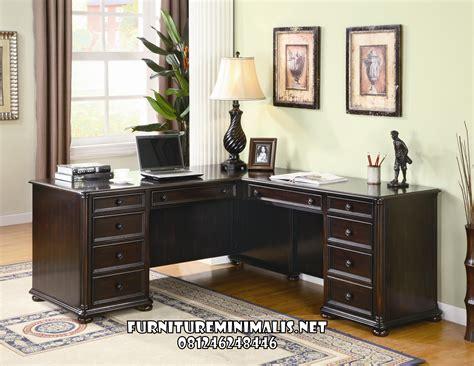 Meja Kerja Kayu Murah meja kantor terbaru murah kayu jati furniture minimalis