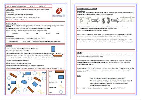 gymnastics lesson plan template inspiring pe gymnastics lesson plans