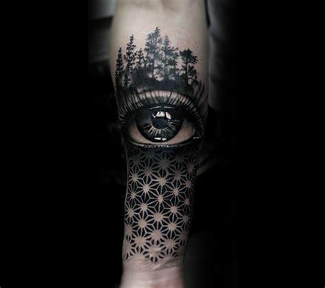 geometric realism tattoo 50 realistic eye tattoo designs for men visionary ink ideas