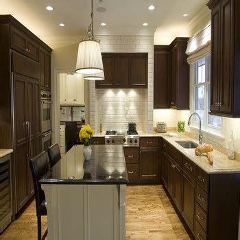 Chocolate brown cabinets transitional kitchen kitchen studio of