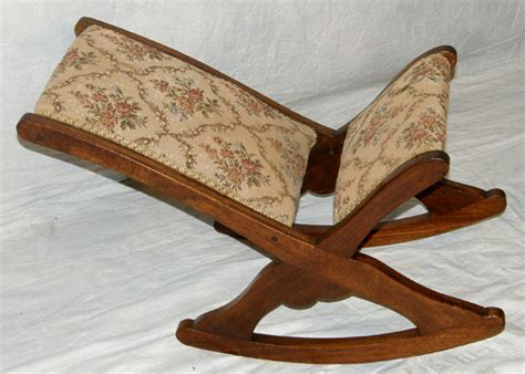 Folding Rocking Foot Stool by Antiques Classifieds Antiques 187 Antique Furniture