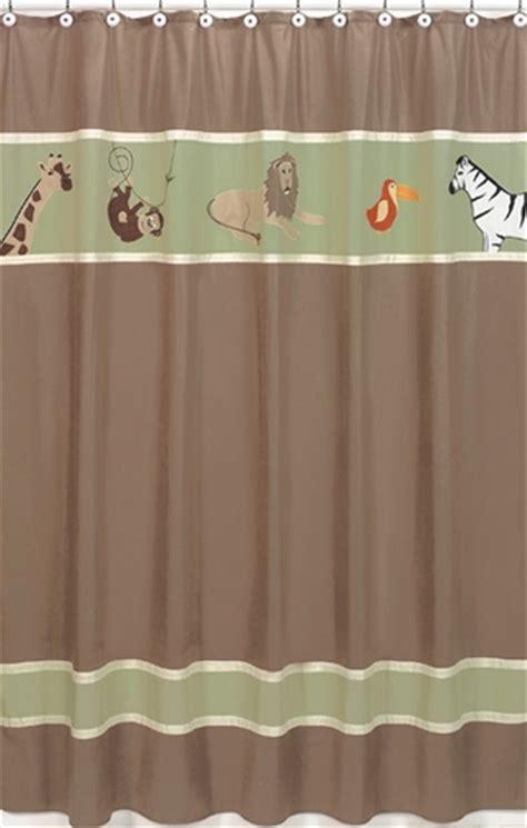 kids jungle shower curtain jungle adventure kids bathroom fabric bath shower curtain