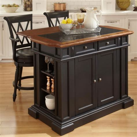 fascinating portable kitchen island with stools including