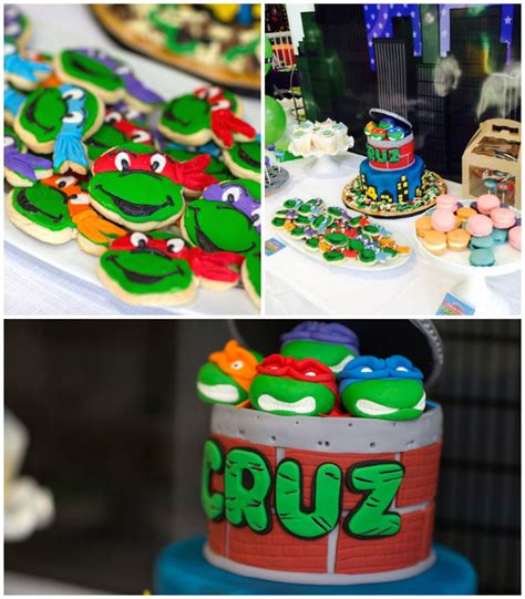 ninja turtle themed birthday party kara s party ideas ninja turtles themed birthday party