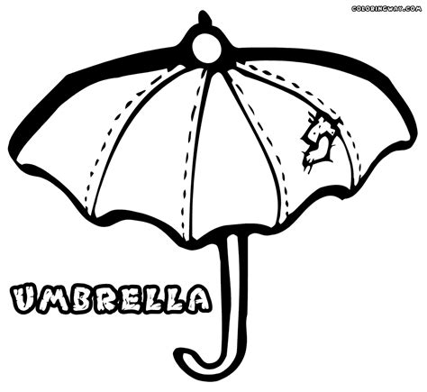 coloring book umbrella coloring book pages umbrella free image