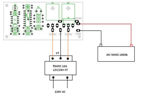 Harga Rangkaian Power Inverter berinovasi dengan elektronika mengubah 12 vdc menjadi 220