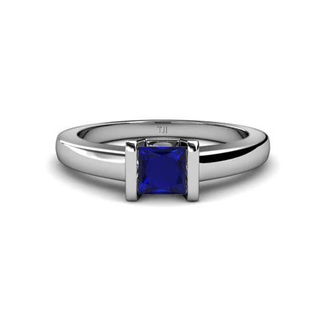 Blue Sapphire 5 0 Ct lab created blue sapphire princess cut channel set