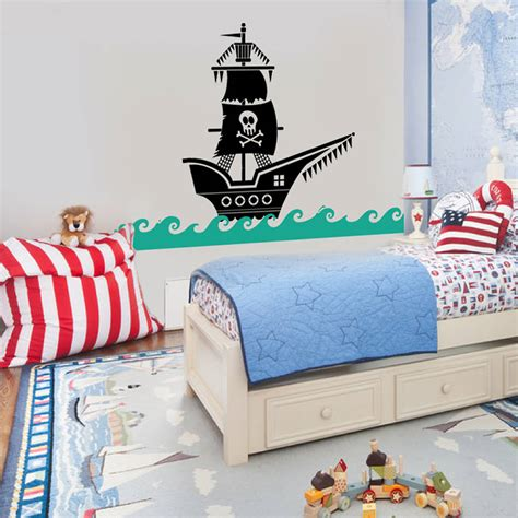 pirate ship wall stickers pirate ship wall sticker decal by snuggledust studios