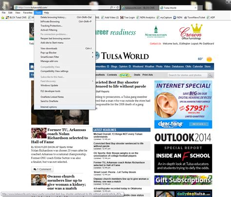 make tulsaworld your home page on your computer site