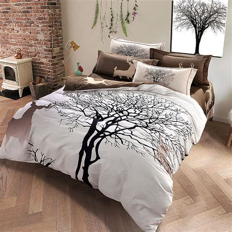 tree comforter sets aliexpress com buy designer deer and tree bedding set